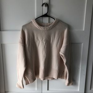 Cream sweater with cashmere